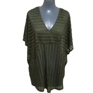 Olive Green Oversized Knit Top L